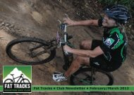 Fat Tracks newsletter Feb/Mar 2012 - Fat Tracks Mountain Bike Club