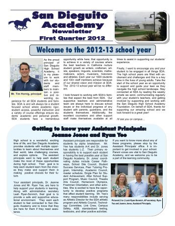 First Quarter 2012 - San Dieguito Union High School District