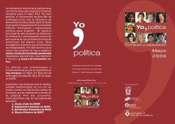 Primer curso presencial de formación y capacitación política para ...