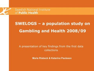 Is problem gambling a public health problem?