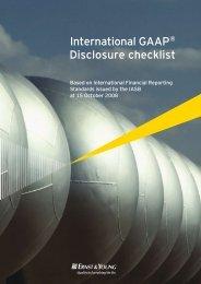 International GAAP Disclosure checklist