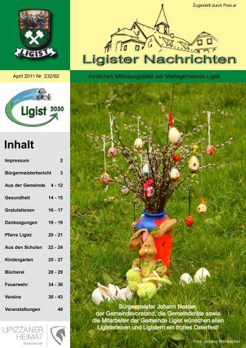 Ligister Nachrichten April 2011