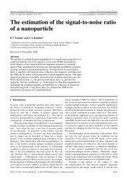 The estimation of the signal-to-noise ratio of a nanoparticle