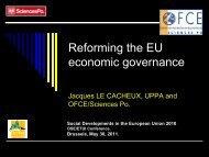 Reforming the EU economic governance