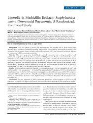 Linezolid in Methicillin-Resistant Staphylococcus aureus ...
