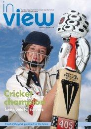 Cricket champion - Prince Henrys Grammar School