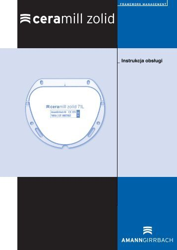 _ Instrukcja obsługi - AmannGirrbach AG