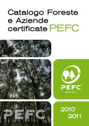 Catalogo Foreste e Aziende Certificate PEFC 2010 - greenfvg.it