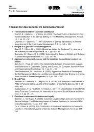 Themen für das Seminar im Sommersemester - Prof. Dr. Tobias ...