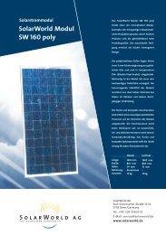 SolarWorld Modul SW 160 poly Solarstrommodul