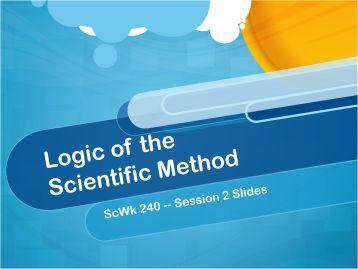 Session 2 - Scientific Method PDF Slides