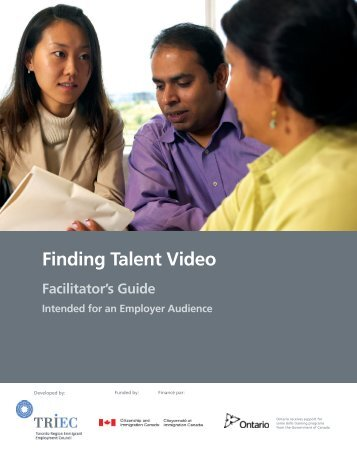 facilitator's guide (for an employer audience) - Hireimmigrants.ca