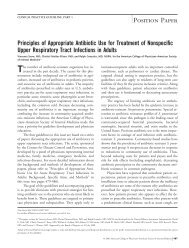Principles of Appropriate Antibiotic Use for Treatment of Nonspecific ...