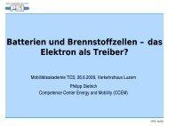 Batterien und Brennstoffzellen – das Elektron als Treiber ...