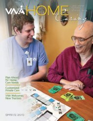 Spring 2010 - the Visiting Nurse Association of Northern New Jersey