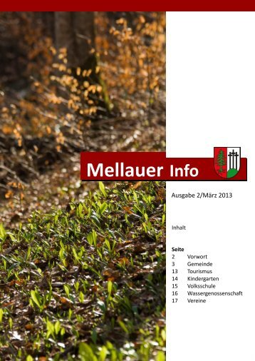 Gemeindezeitung - Mellau
