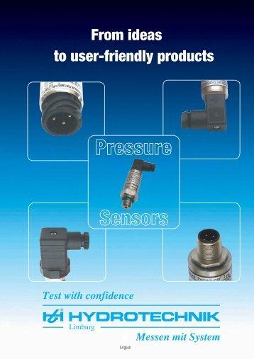 Pressure sensors - Hydrotechnik