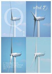 Bericht zum 1. Quartal 2012 - wind 7 Aktiengesellschaft