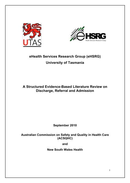 A Structured Evidence-Based Literature Review on Discharge