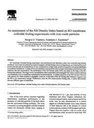An assessment of the Silt Density Index based on RO membrane ...