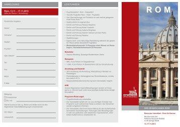 Flyer zur Reise (PDF) - Quadriga-Studienreisen