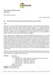 podnět na Úřad pro ochranu hospodářské soutěže - Bezkorupce