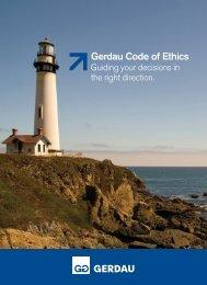 Gerdau Code of Ethics - Gerdau Ameristeel