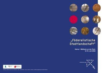 """""""Föderalistische Stadtlandschaft"""" (850 KB) - Städteregion Ruhr 2030"""