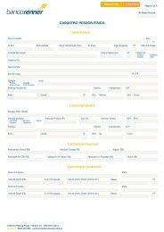 Kit 3 - Proposta de Abertura de Conta Corrente ... - Banco Renner