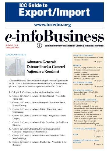 e-infoBusiness nr. 1/10.01.2013 - Camera de Comert si Industrie a ...