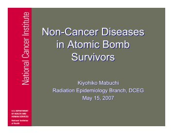 Non-Cancer Diseases in Atomic Bomb Survivors - Radiation ...