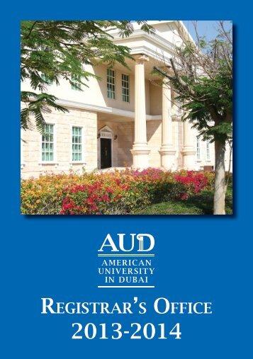 Registrar Leaflet - American University in Dubai
