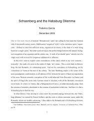 Schoenberg and the Habsburg Dilemma - Federico Garcia