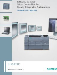SIMATIC S7-1200 – Micro Controller for Totally Integrated ... - IMPOL-1