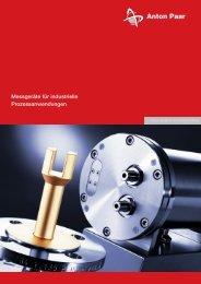 Messgeräte für industrielle Prozessanwendungen - Process