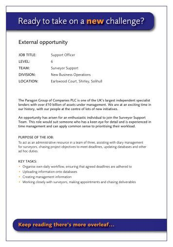 HRD5322 - HR administrator job advert - Paragon Mortgages