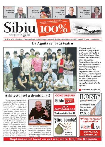 Arhitectul şef a demisionat! La Agnita se joacă teatru - Sibiu 100