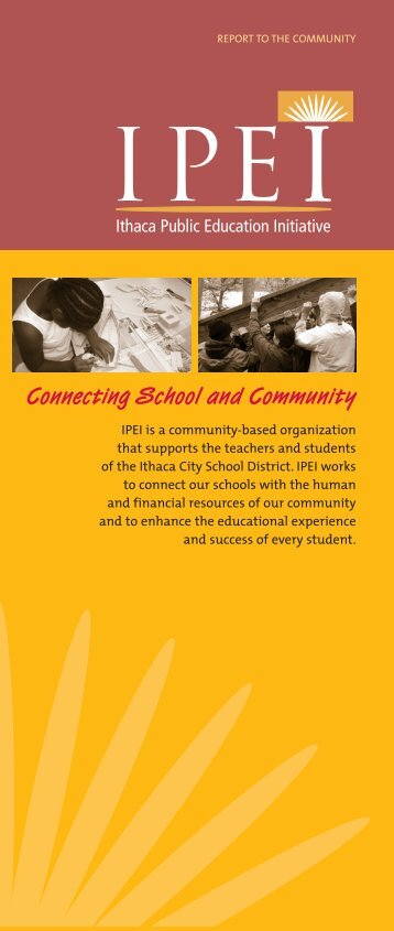 Connecting School and Community - Ithaca Public Education Initiative