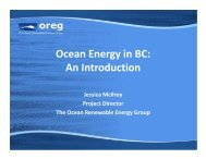 Ocean Energy in BC: An Introduction - Marine Renewables Canada