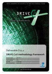 DRIVE C2X methodology framework
