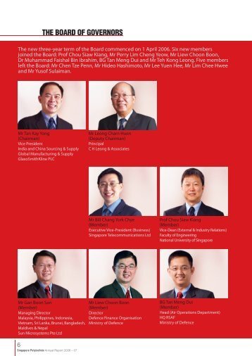 THE BOARD OF GOVERNORS - Singapore Polytechnic