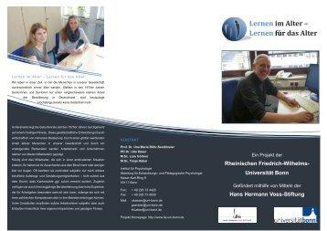 Flyer (Unternehmen - Institut für Psychologie - Universität Bonn
