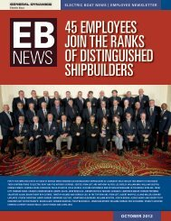 EB News October 2012 - Electric Boat Corporation