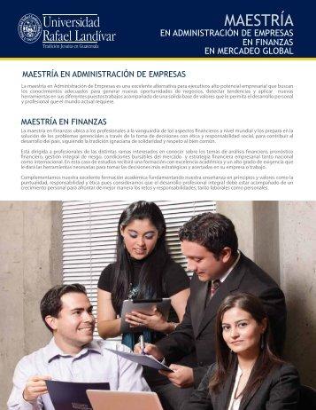 Maestría en Finanzas - Universidad Rafael Landívar