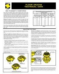 JAY R SMITH MFG CO 3580 Sanitary Drain,4x4-1//2 in.,Cast Iron