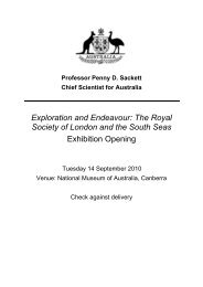 The Royal Society of London and the South Seas Exhibition Opening