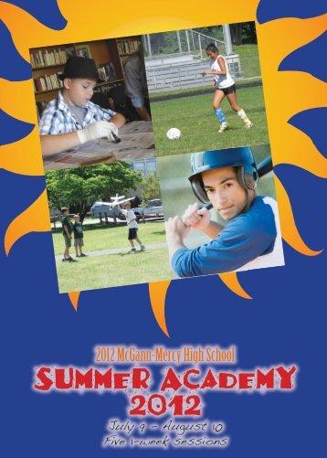 Summer Academy 2012 - McGann-Mercy High School