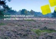 Kadernota landelijk gebied gemeente Rijssen-Holten