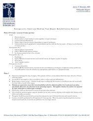 Postoperative Small and Medium Tear Repair Rehabilitation ...