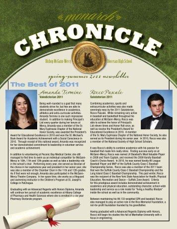 spring-summer 2011 newsletter - McGann-Mercy High School